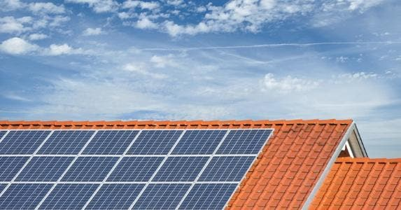 Solar panels on roof © iStock