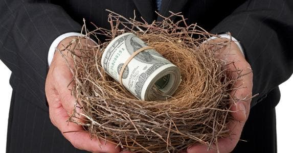 Money in nest © iStock