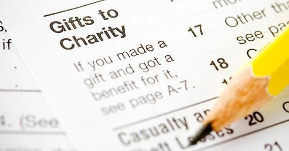 Tax form focused on 'Gifts to Charity' © Sean Locke Photography/Shutterstock.com