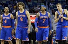 New York Knicks team | Sean Gardner/Getty Images