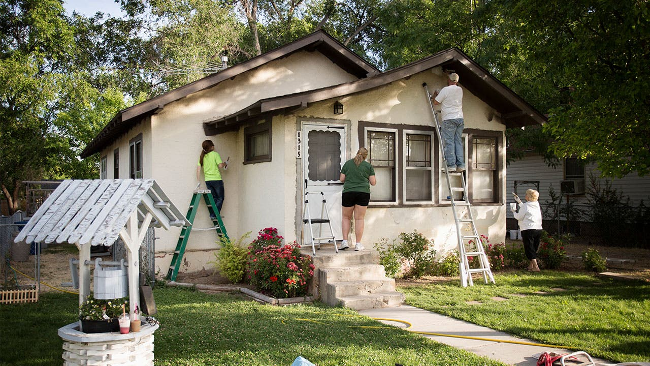 family home improvement painting house