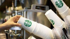 Starbucks latte cups