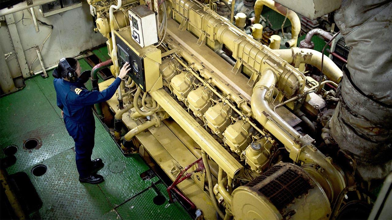 Equipment on board a ship