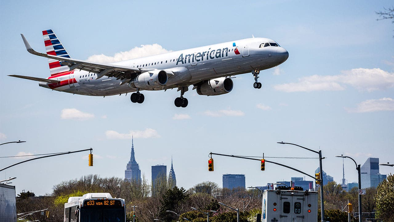 American Airlines flight landing