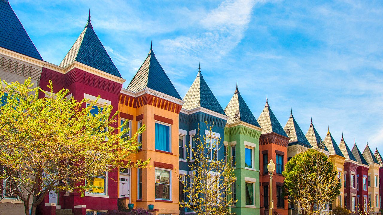 Rowhouses in DC