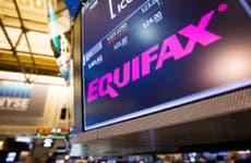 Equifax stock at NYSE