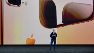 Tim Cook announcing iPhone X