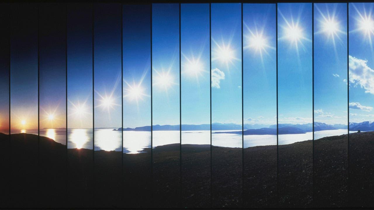 sun rising timelapse
