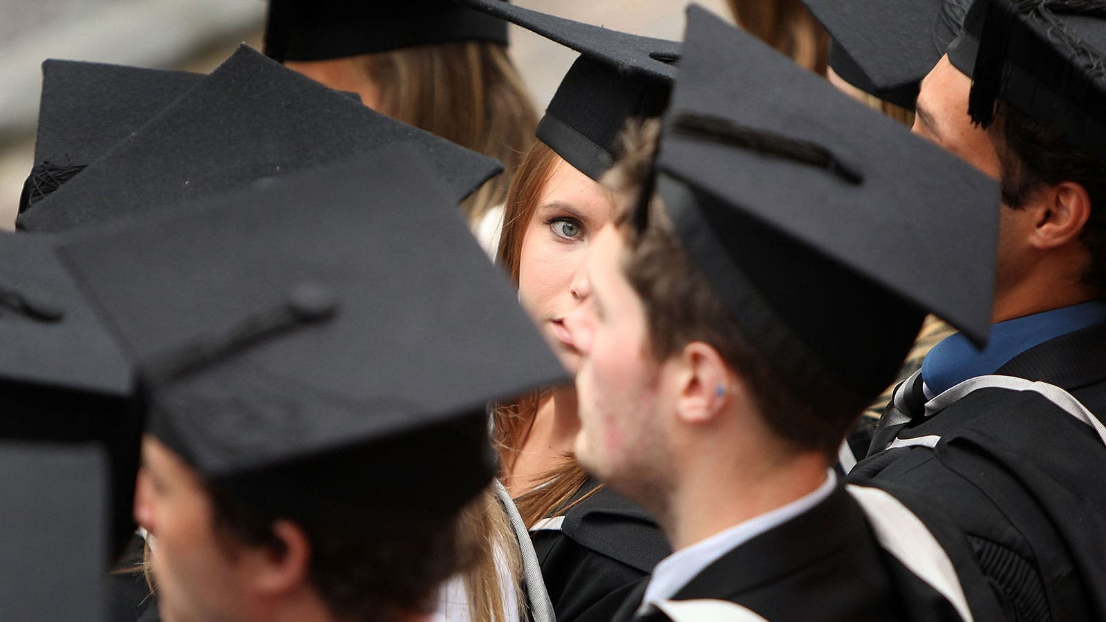 A look of worry from a graduate