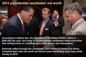 Presidental caniddates' net worth