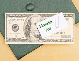 What type of financial aid is being offered? © cjgphotography/Shutterstock.com