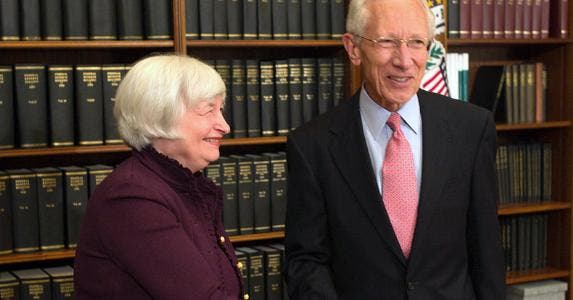 Janet Yellen and Stanley Fischer © United States Government Work