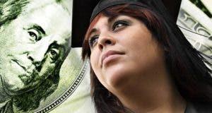 Female college graduate, $100 bill in background © TheSupe87 - Fotolia.com