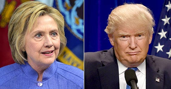 Clinton, Trump clash about cash | AFP/Getty Images
