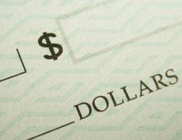 Close up shot of a check