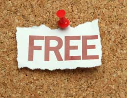 Paper that says 'free'