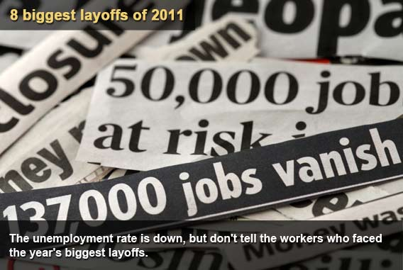 8 biggest layoffs of 2011