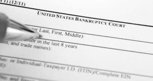 United States bankruptcy court form © iStock