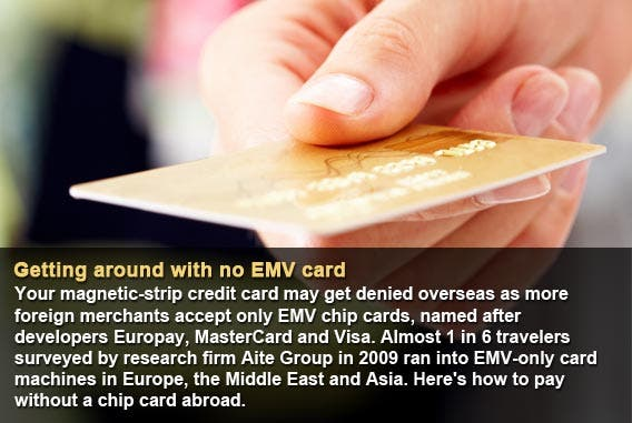 Getting around with no EMV card