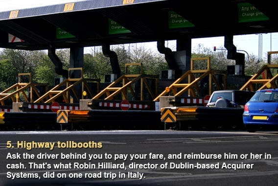 Highway tollbooths