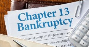 Chapter 13 bankruptcy form © iStock