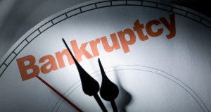 Bankruptcy clock © iStock
