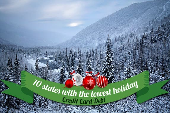 10 states with the lowest holiday credit card debt © Doug Lemke/Shutterstock.com; Ornaments © Pasko Maksim/Shutterstock.com