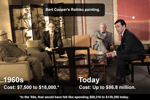 Bert Cooper's Rothko painting