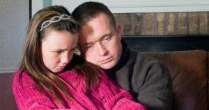 Sad dad and young daughter   Rhienna Cutler/Getty Images