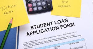 Student Loan application form © iStock