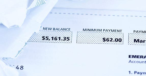 A big balance is OK if you pay on time © iStock
