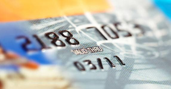 Closeup of credit card expiration date © iStock