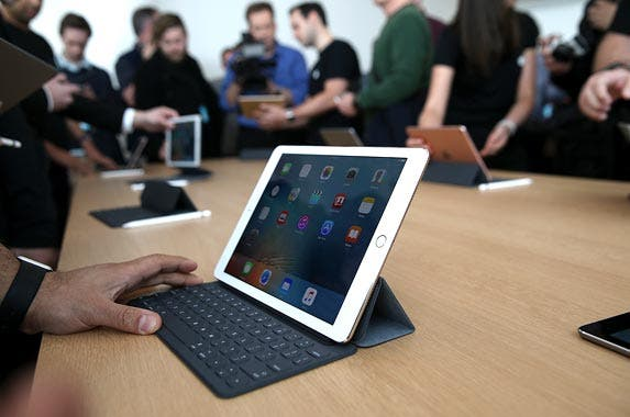 Snap-on smart keyboard for new iPad | Justin Sullivan/Getty Images