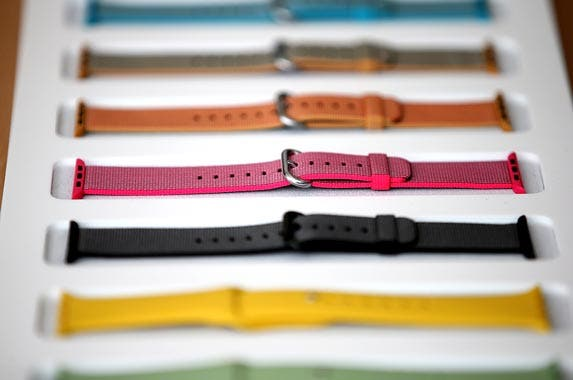 Flashy straps for the Apple Watch | Justin Sullivan/Getty Images