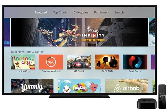 New apps for Apple TV © Apple