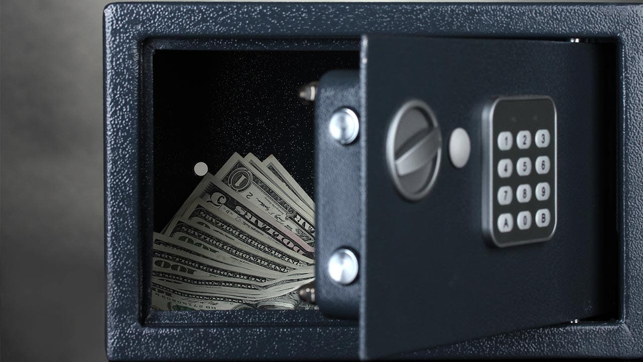Money in a safe