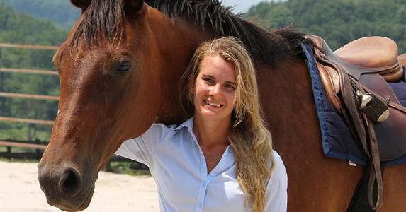 Callie King and her horse | Photo courtesy of Callie King