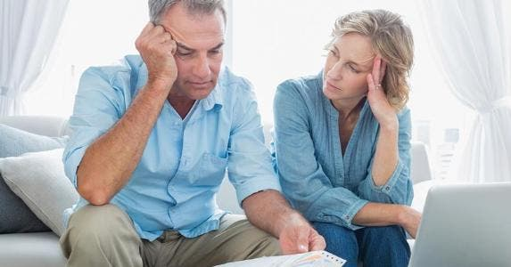 Concerned senior couple © iStock