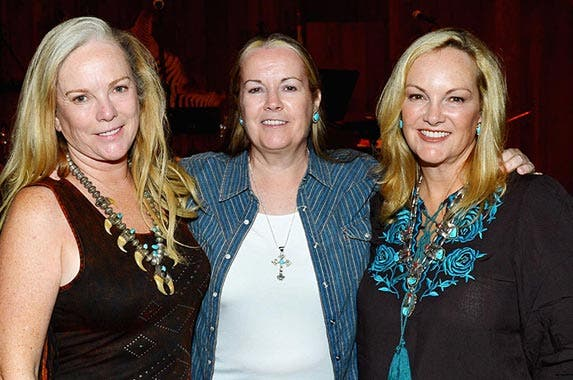No. 9: Hearst family | Anne Hearst McInerney, Vicki Hearst and Patricia Hearst Shaw attend Hearst Castle Preservation Foundation Annual Benefit Weekend 2016 Hearst Ranch Patron Cowboy Cookout at Hearst Ranch on Oct. 1, 2016 in San Simeon, California. (Patrick McMullan/Getty Images)