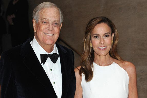 No. 2: Koch family | David H. Koch and Julia Flesher Koch attends the School of American Ballet Winter Ball at David H. Koch Theater at Lincoln Center in New York City. (Andrew Toth/Getty Images)
