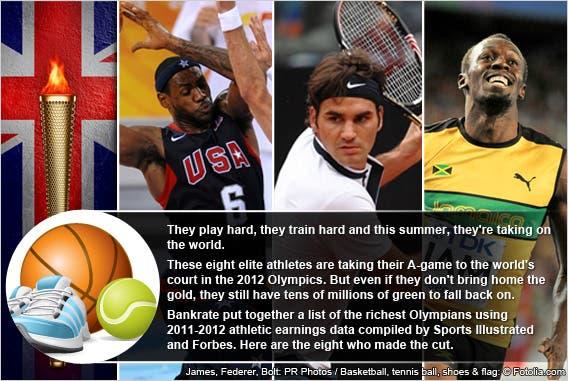 9 richest 2012 Olympians