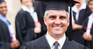 Older man in graduating class © michaeljung/Shutterstock.com