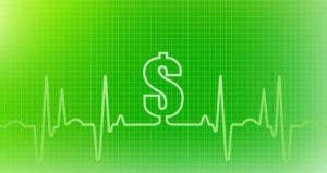 Dollar sign on green line chart © iStock
