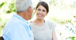 Adult daughter listening to senior parent © iStock