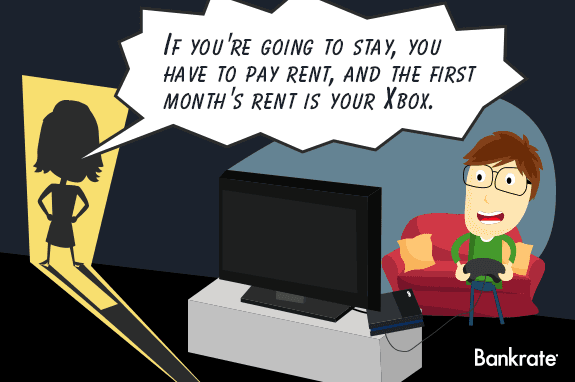 'If you're going to stay, you have to pay rent, and the first month's rent is your Xbox.' © Bigstock