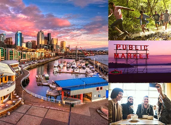 No. 8: Seattle | Thomas Northcut/DigitalVision/Getty Images, RyanJLane/E+/Getty Images, Photo by David R irons Jr/Moment/Getty Images, TJC/Moment Open/Getty Images