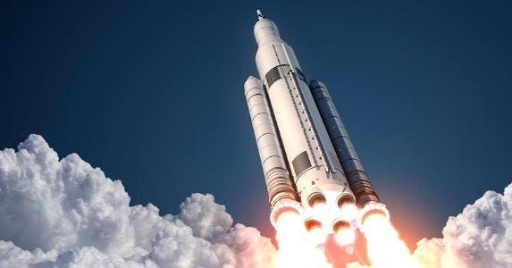 Shuttle liftoff into sky © iStock