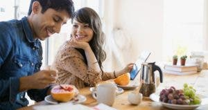 Couple eating grapefruit for breakfast   Hero Images/Getty Images