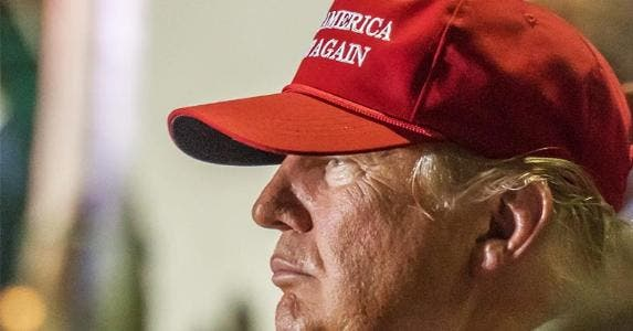 Donald Trump wearing 'Make America Great Again' ball hat | Windover Way Photography/Shutterstock.com