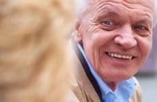 Close up shot of senior man smiling at companion © iStock